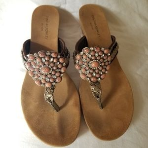 Cynthia Rowley Jeweled Sandals